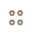 12mm Aluminum Hex Adapters for Tekno SCT410, Slash/Stampede M6 Driveshafts and AE SC10 4×4